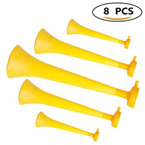 Primetrade Set 10Englisch-Stadion mit Mundstück, Vuvuzela aus Kunststoff (x10) für Veranstaltungen, gelb, Medie