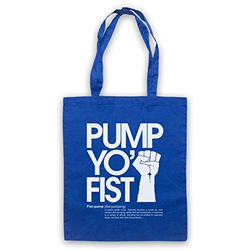 Pump Yo Fist Slogan Umhangetaschen Blau