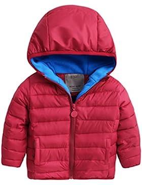 Happy Cherry - Chaqueta Niños para Invierno Abrigo Acolchado Grueso Infantil Cálido con Capucha Sombrero Coat...