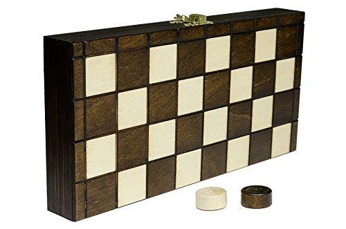 DAMAS DAMAS - 25cm/9,9 en artesanal madera juego de mesa