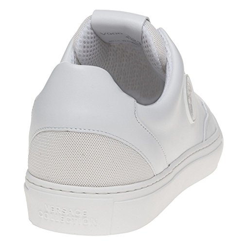 Versace Collection New Low-Top Homme Baskets Mode Blanc Blanc