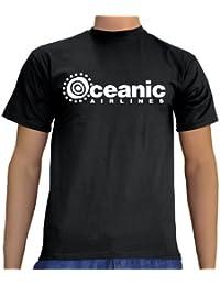 Touchlines Unisex/Herren T-Shirt Oceanic Airlines - Lost Dharma B1751