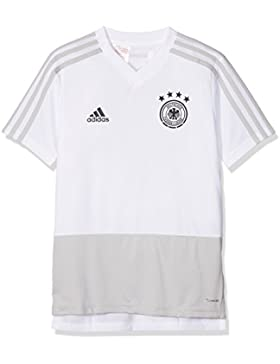 adidas Selección Alemana de Fútbol Camiseta de Entrenamiento, Niños, Blanco (Gridos/Negro), 152-11/12 años