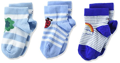 Tommy Hilfiger Tommy Hilfiger Unisex Socken TH BABY LUCKY CHARMS GIFTBOX 3P 3er Pack, Mehrfarbig Blue 397, 15-18