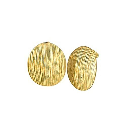 DUlijun créative magnifiquement minimaliste disque 18 k rose boucles d'oreilles en or aiment cadeau rose