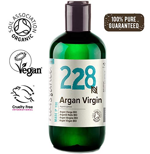 Naissance marokkanisches Arganöl Nativ BIO (Nr. 228) 250ml - kaltgepresst, rein natürlich - Pflegeöl für Gesicht, Haut, Haar, Bart & Nagelhaut -