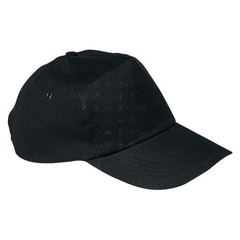 US BASIC 5 PANEL BASEBALL CAP HAT - 8 COLOURS