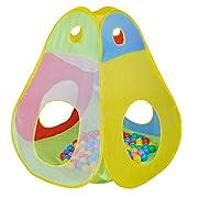 Questa tenda con palline di KNORRTOYS.COM® garantisce un grande divertimento in tutta sicurezza.  La tenda è accessibile da tutti e quattro i lati.  Grazie alla retina trasparente i bambini hanno una visione chiara anche durante il gioco.   ...