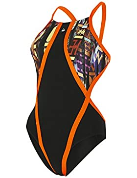 Aqua Sphere Mujeres Jacana–Bañador de, Mujer, Jacana, Black/Bright Orange, 40
