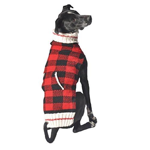 Chilly-Dog-Buffalo-Plaid-Dog-Maglione