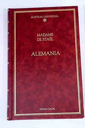 Alemania por Madame de Staël