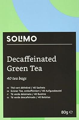 Marque Amazon - Solimo - Thé vert déthéiné - 40 sachets x6