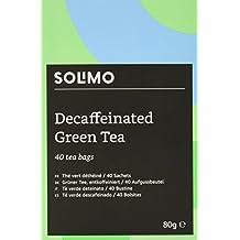 Marca Amazon - Solimo - Té verde descafeinado - 40 bolsitas x6