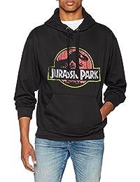 Jurassic Park Distressed Logo, Felpa Uomo