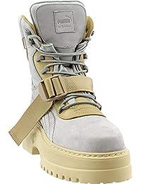 67a9cd51b8b Puma Women s x Fenty by Rihanna Nuckbuck Leather Winter Boot Dove Lark 8.5  B US
