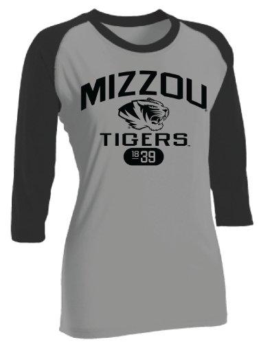 Russell Athletic NCAA Damen Baseball Tee Missouri Tigers, Damen, Oxford/Black, Medium -