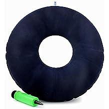 XUAN Médico Donut Cojín Asiento Inflable Anti Decubitus Hip Mat Pad con una bomba de colchón para el dolor de Coccix Hemorroides Dorso espalda y tailbone alivio del dolor