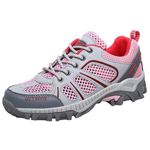 。‿。 Meilleure Vente! LuckyGirls Printemps-eté/Automne-Hiver Homme Chaussures de Randonnée Baskets Basses Femmes Imperméable Lacées Plates Confortable et Respirant 36-45
