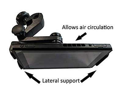 Subsonic - Car holder for Nintendo Switch - Car holder With side brackets so as not to obstruct the ventilation of the console from Subsonic