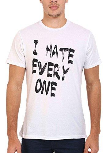 I Hate Every One X Cool Funny Men Women Damen Herren Unisex Top T Shirt .Weiß