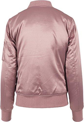 Ladies Satin Bomber Jacket Urban Classics Streetwear Veste légère femme oldrose