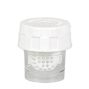 Kontaktlinsenbehälter mit Körbchen – Waschmaschine für Kontaktlinsen – weiß