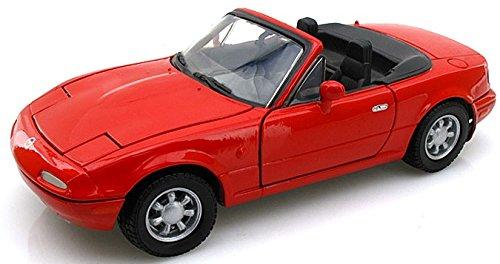 mazda-mx-5-mki-miata-rot-modellauto-fertigmodell-motormax-124
