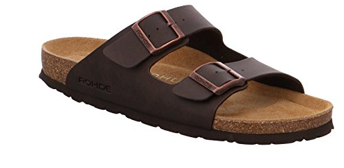 Rohde men's shoes Pantoletten summershoes 5920 brown mocca