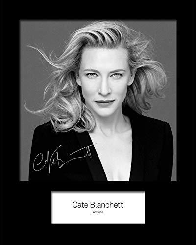 FRAME SMART CATE Blanchett #1 | Signierter Fotodruck | 10x8 Größe passt 10x8 Zoll Rahmen | Maschinenschnitt | Fotoanzeige | Geschenk Sammlerstück