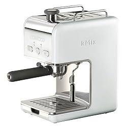Kenwood kMix ES020 Espressomaschine (1100 Watt, E.S.E. Pad kompatibel mit Tassenwärmer), weiß