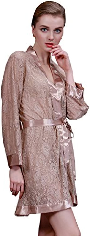 MOKAYA Donna Indumenti da da Notte Kimono Robe Accappatoio da da Damigella  d Onore B07BP8PF2P a8066328db6