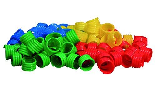 GEFLÜGELRINGE aus Kunststoff (Durchm. 18 mm) verschiedene Farben / 20 Stück (18 mm / ROT)
