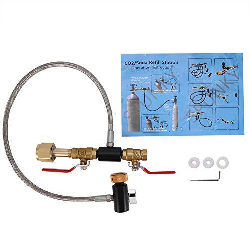 G1 / 2 CO2-Flaschen-Nachfülladapter Flaschenanschluss CO2-Tank Soda Maker Zubehör mit Schlauch zum Befüllen des Sodastream-Tanks(24