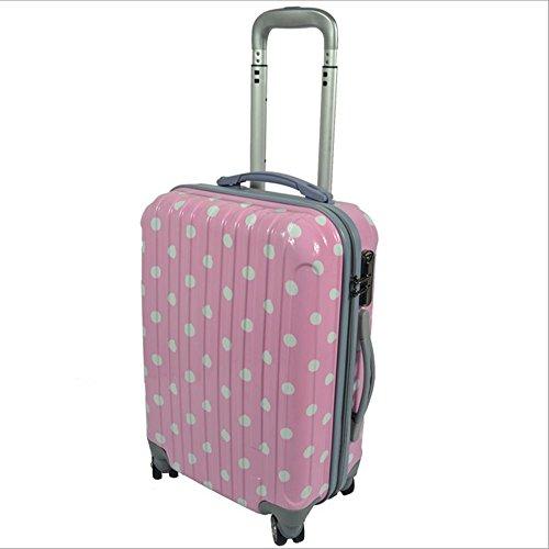 Xiuxiandianju 20 pollici 24 pollici 28 pollici business computer check in valigia gli uomini e le donne Wanxiang Lun ABS bagagli piccoli viaggi casella password , pink point , 28 inch