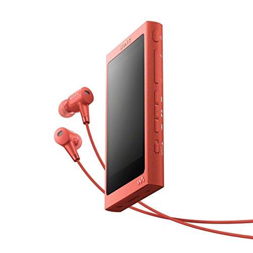 Sony NW-A45HN Walkman Audio ad Alta Risoluzione con Cuffie, 16GB, Touchscreen, Amplificatore Digitale, Bluetooth, NFC, Rosso