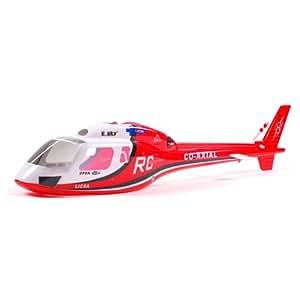 Esky - 002663 Fuselage Big Lama Rouge - Helicopteres RC - Pièces Hélicos