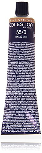 Wella Professionals Koleston Perfect Permanente CremeHaarfarbe, 55/ 0 Pure Naturals hellbraun intensiv, 1er Pack (1 x 60 ml)