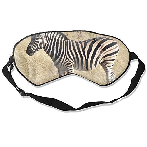 Antifaz de seda para dormir con estampado de cebra