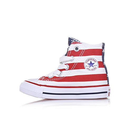 bleu blanc Unisex Bars Kinder Stars rouge Converse weiß Gymnastikschuhe Weiß Hi amp; vq464wR