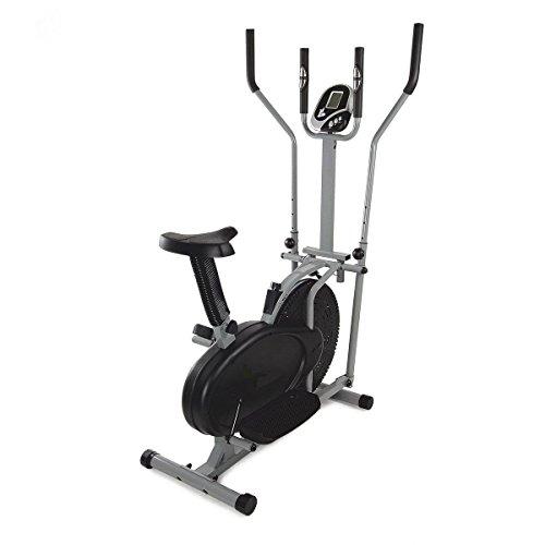 Bicicleta estática y elíptica Cross Trainer, dos en uno