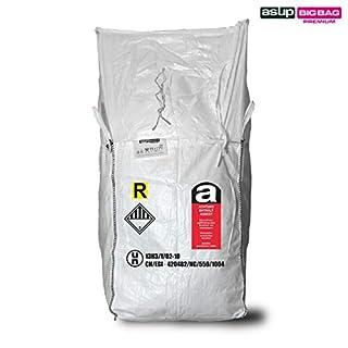 Asup UN Hazardous Goods Big Bag 90 x 90 x 105 cm Asbestos, Apron SWL 1000 kg, White