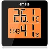 emate higrómetro digital, de control de control climática y–de aire, Negro