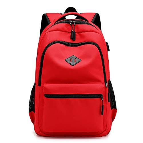 Laptop Rucksack Herren Tasche, Schultasche & Arbeitsrucksack für Laptop Notebooks bis 15.6 Zoll mit USB Ladeanschluss - Flugzeug-head-unterstützung