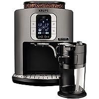 Krups EA860E - Machine Espresso LCD tactile, autonome et entièrement automatique, 1,7 L, 1 tasse Argent