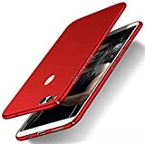 Sunny Fashion All Angle Protection 360 Degree Ultra-Slim Lightweight Matte Hard Case Back Cover For Huawei Honor 8 Lite - (Red)