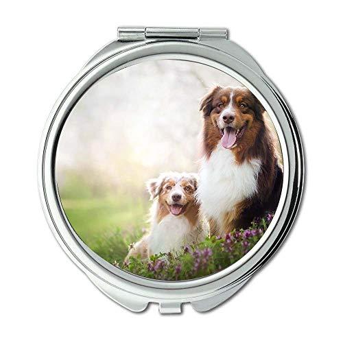 Yanteng Spiegel, Kleiner Spiegel, English Bulldog Hund frei, Taschenspiegel, 1 X 2X Lupe