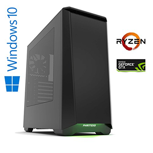Memory PC Gaming Computer ventum X AMD Ryzen 5 - 1600X (Sixcore/Hexacore) 6x 3.6 GHz, ASUS PRIME B350, 16 GB DDR4 2133Mhz, 256 GB SSD + 1000 GB HDD, Nvidia Geforce GTX 1060 6GB 4K, USB 3.0, MultimediaPC, High End Gaming, Workstation, CAD Fähig, Silent