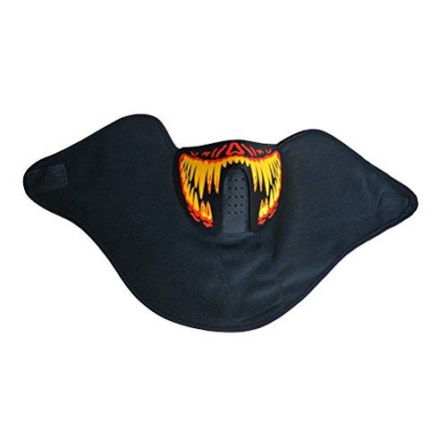 BESTOYARD Erschreckende Halloween Cosplay LED Leuchten Maske Draht -