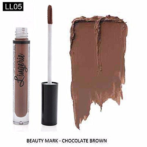 iiniim Damen Wasserdicht Lippenstift Long Lasting Matte Lip Gloss Lip Liner Kosmetik LL05 Einheitsgröße