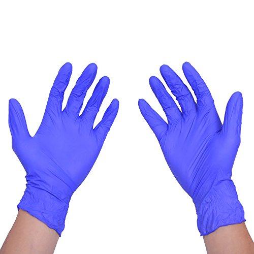 100 pcs/Box Gants jetables en latex pour maison de nettoyage jetables Nettoyage travaux ménagers Gants en nitrile